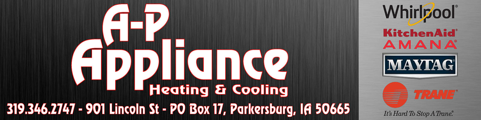 A-P Appliance Heating and Cooling banner